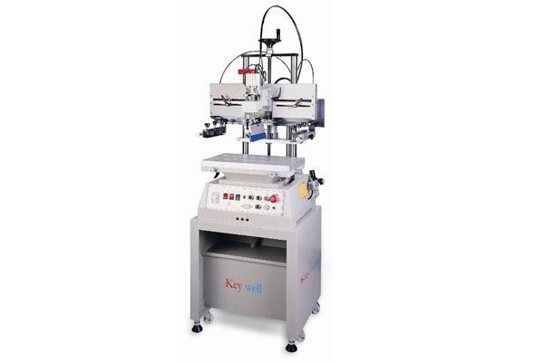 Small Format Pneumatic Screen Printer With T-slot table (without vacuum)